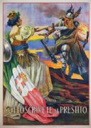 Sottoscrivete al prestito / G. Capranesi. World War One Italian poster.